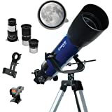 Meade Instruments – S102mm Aperture, Portable Beginner Refracting Astronomy Telescope for Kids & Adults – Bonus Smart Phone A