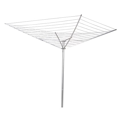 Attrayant Household Essentials 17120 1 Rotary Outdoor Umbrella Drying Rack | Aluminum  Arms And Steel Post