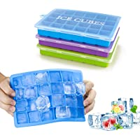 Ice Cube Trays 3 Pack, Top1Shop Silicone Ice Tray with Removable Lid Easy-Release Flexible Ice Cube Molds 24 Cubes per…