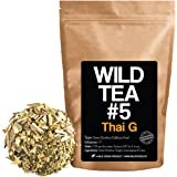 Green Rooibos Tea with Ginger, Lemongrass and Lime, All-Natural Organically Grown Ingredients - Wild Tea #5 Loose Leaf Rooibos Tea (2 ounce)