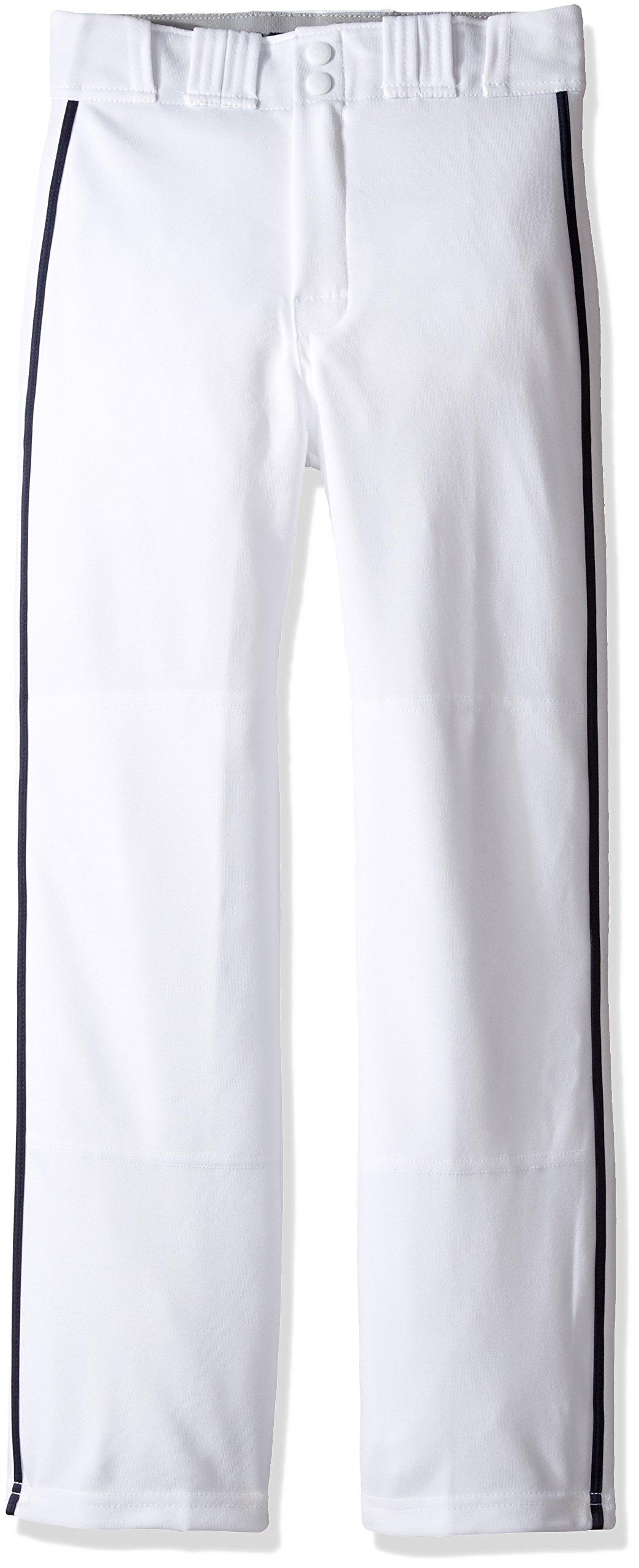 Easton Rival 2 Baseball Softball Pant | Youth | Small | White Navy | 2020 | Double Reinforced Knee | Elastic Waistband w/ 2 Color Internal Logo | 2 Batting Glove Pockets | 100% Polyester