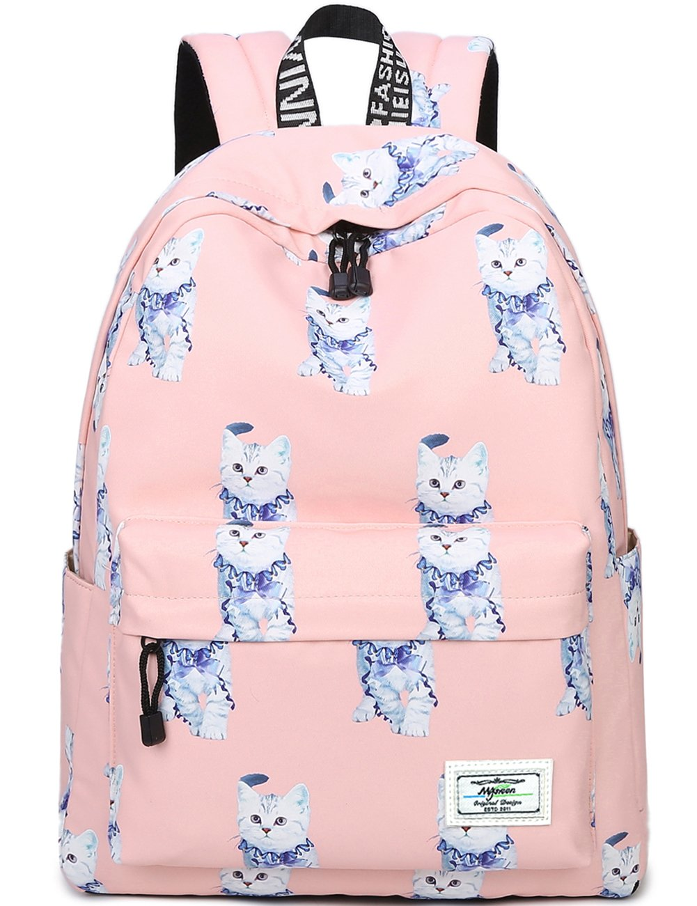 Bookbags for Teens, Cute Animal Cat/Kitty Laptop Backpack School Bags Travel Daypack Handbag by Myrgeen(Pink)