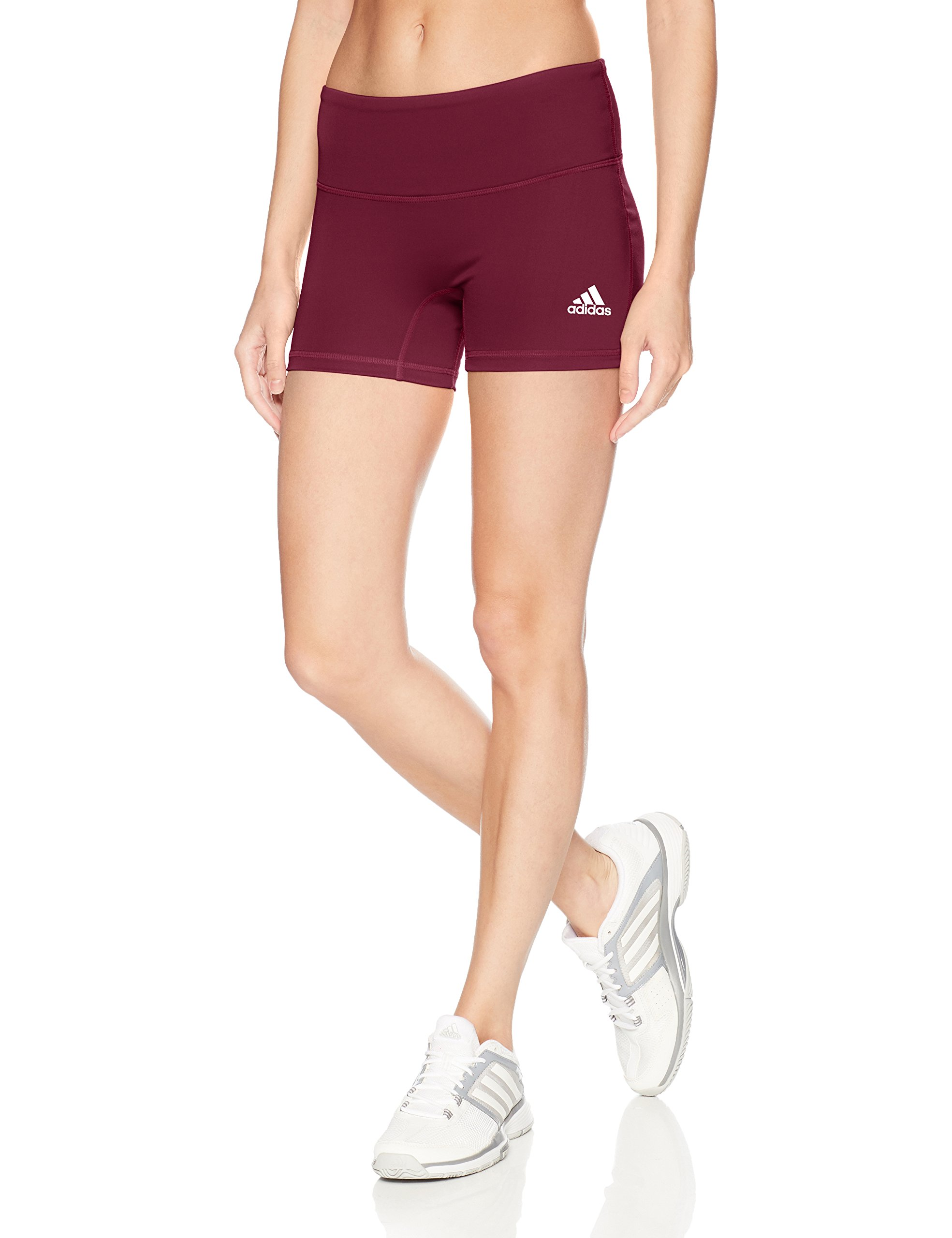 adidas Women's 4 Inch Short Tight, Maroon, Large by adidas