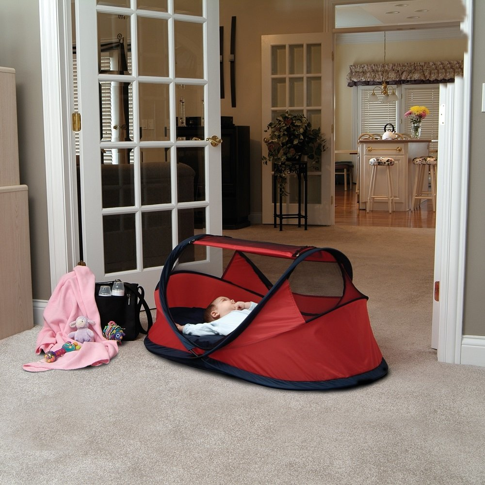NSAuk Deluxe Pop Up Travel Cot Large Pistachio 0-4 Years