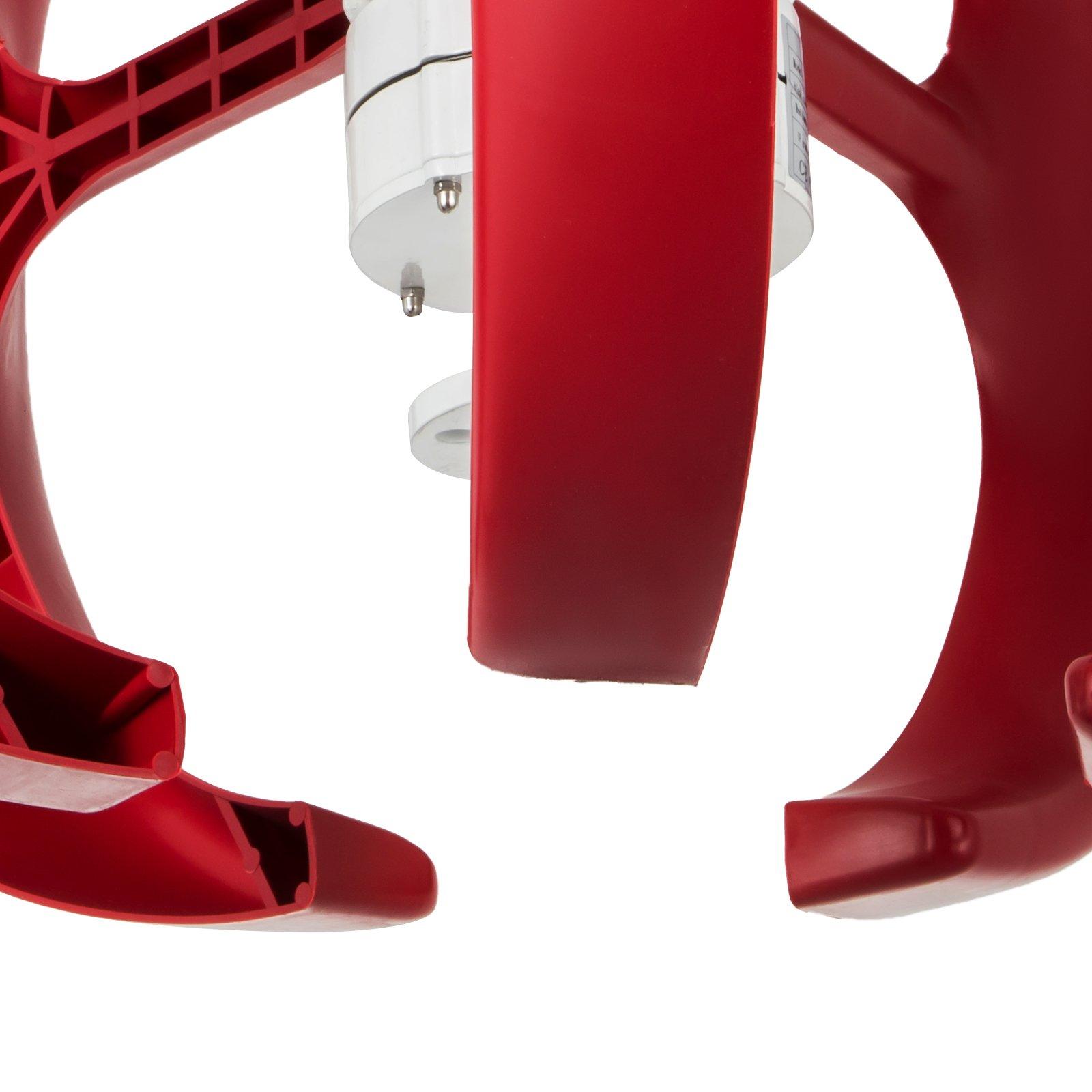 Happybuy Wind Turbine 300W 12V Wind Turbine Generator Red Lantern Vertical Wind Generator 5 Leaves Wind Turbine Kit with Controller No Pole (300W 12V, Red) by Happybuy (Image #8)