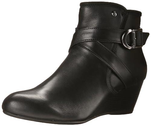 Hush Puppies Women's Korina Rhea Wedge, Black WP Leather, ...
