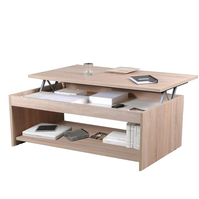Weber Industries Oregon Table Basse 120x60 Bois Chêne Blanchi 120 x 60 x 43.5 cm