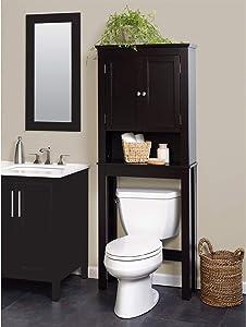 Zenna Home Custom Suite Over-The-Toilet Spacesaver, Espresso