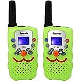 Retevis RT32 Kids Walkie Talkies 0.5W 22 Channels FRS UHF VOX Scan Call Alarm Monitor LED Flashlight Toy Walkie Talkies(Green, 1 Pair) (Green)