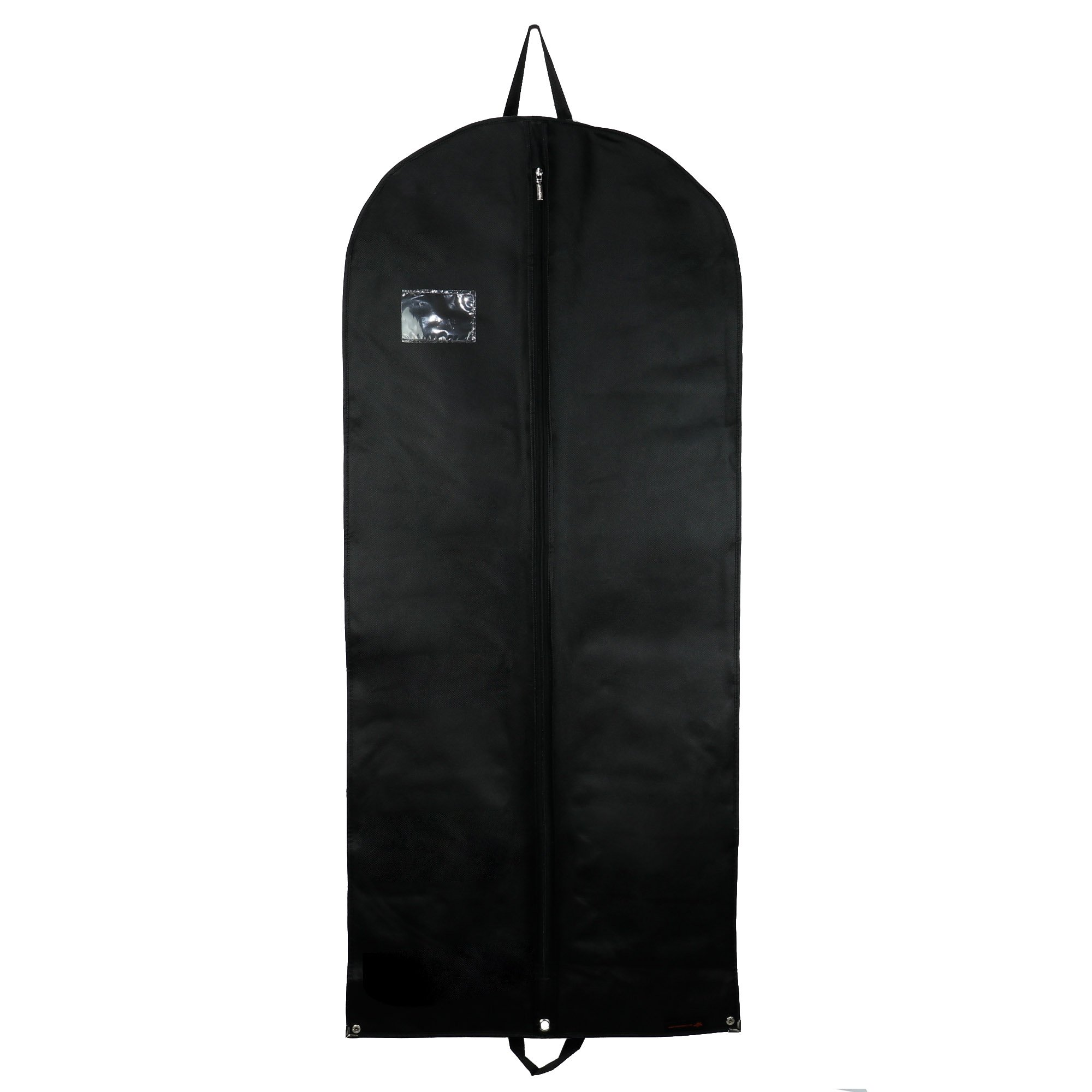 Hangerworld Porta Traje de Viaje 137cm Transpirable Negro Anti-Polvo Cierre con Cremallera y Clips