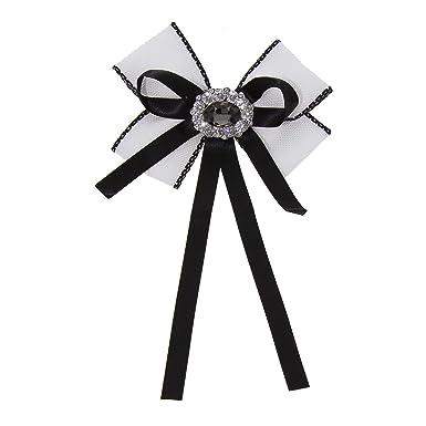 FASHIONGEN - Broche, corbata de mujer, TALY - Blanco: Amazon.es ...