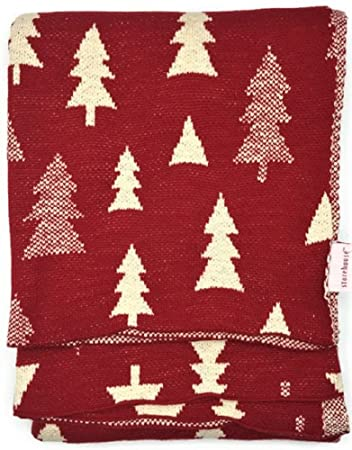 storehouse red and white christmas tree throw blanket - Amazon White Christmas Tree