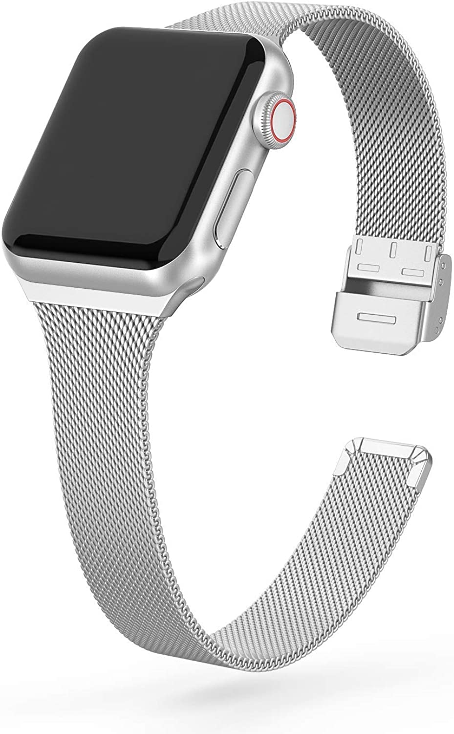 Boyear Compatible Apple Watch Band 38mm 40mm 42mm 44mm , Soft Stainless Steel Mesh Band Replacement Mesh Strap for iWatch Series 5/4/3/2/1