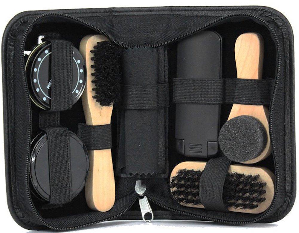 Kit de nettoyage pour chaussures Noir 7 pièces Idéal pour Voyage Mag Mouch Sophos
