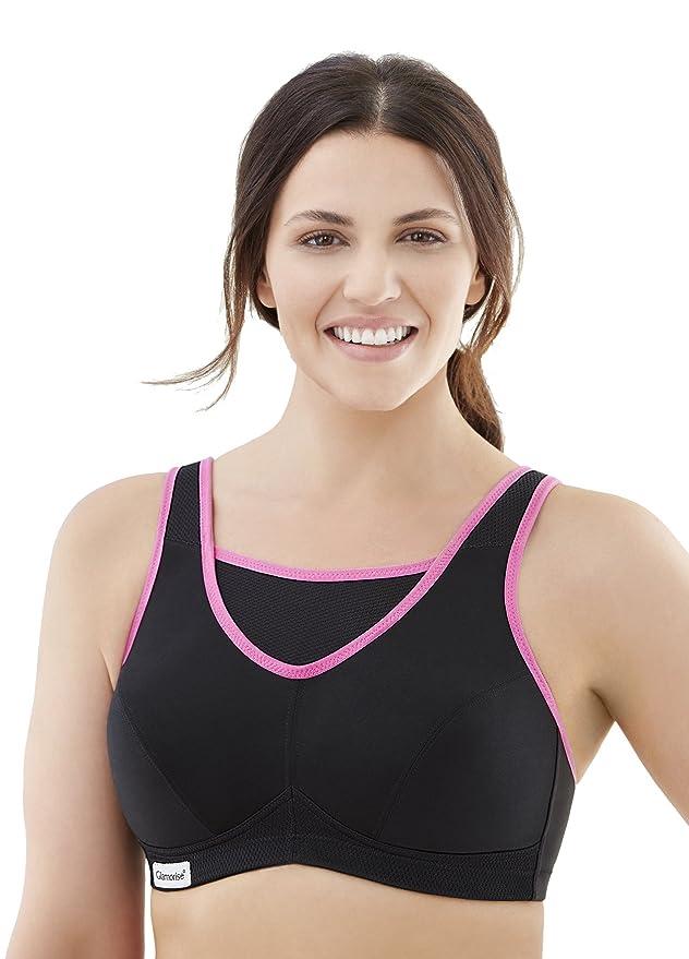 71760c515b Glamorise Women s Full Figure No-Bounce Camisole Wirefree Sports Bra  1066   Amazon.co.uk  Clothing