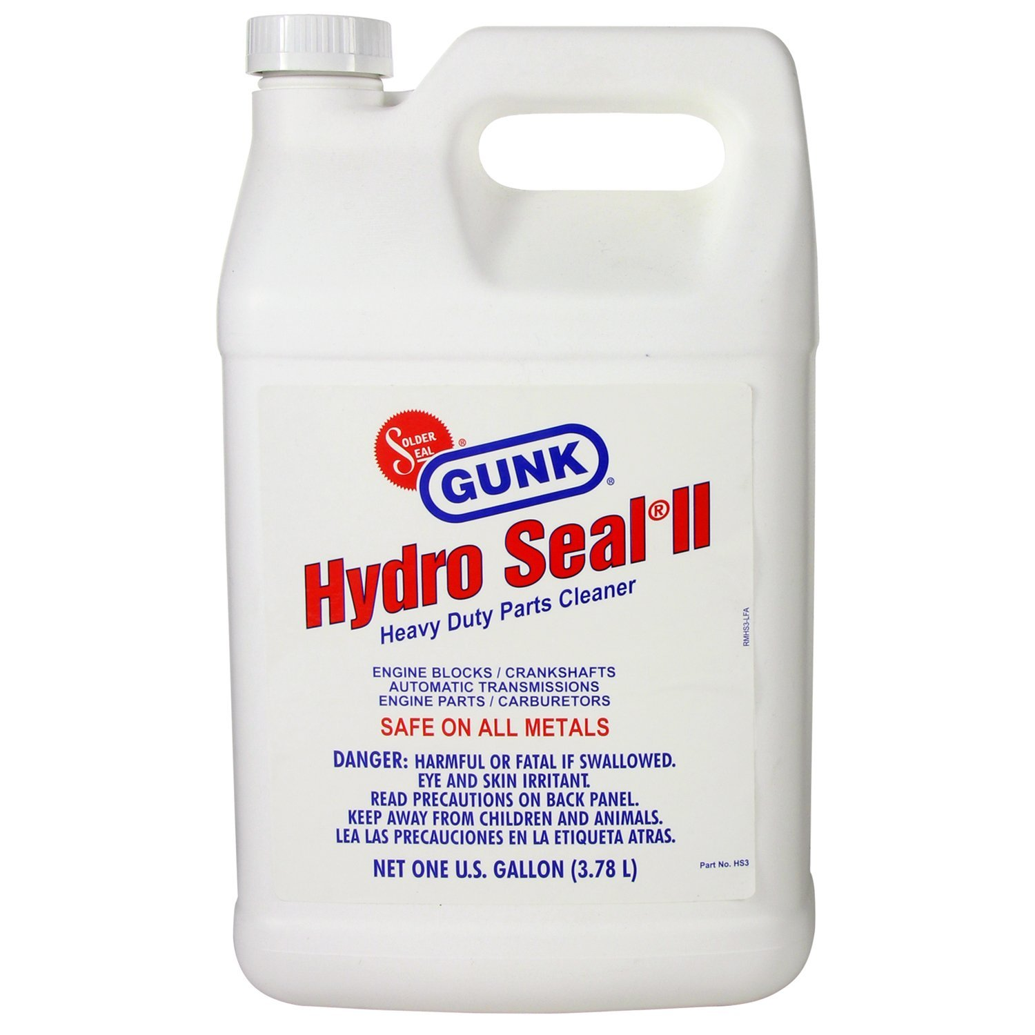 GUNK HS3-4PK Hydro Seal Heavy Duty Parts Cleaner - 1 Gallon, (Case of 4) by Gunk