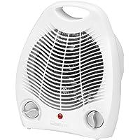 Clatronic 271671 Calefactor, 2 niveles de temperatura, función ventilador, 2000 W, 230 V, Blanco