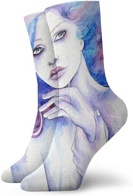 SARA NELL Women Lady Girls Classics Crew Socks Cat Paws White Personalized Athletic Dress Socks 30cm Long-All Season