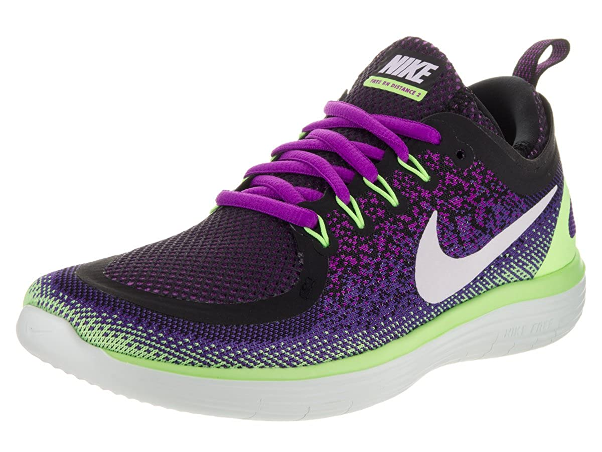 Amazon.com | Nike Womens Free Rn Distance 2 Hyper Violet/White Dark Iris Running Shoe Size 6 | Road Running