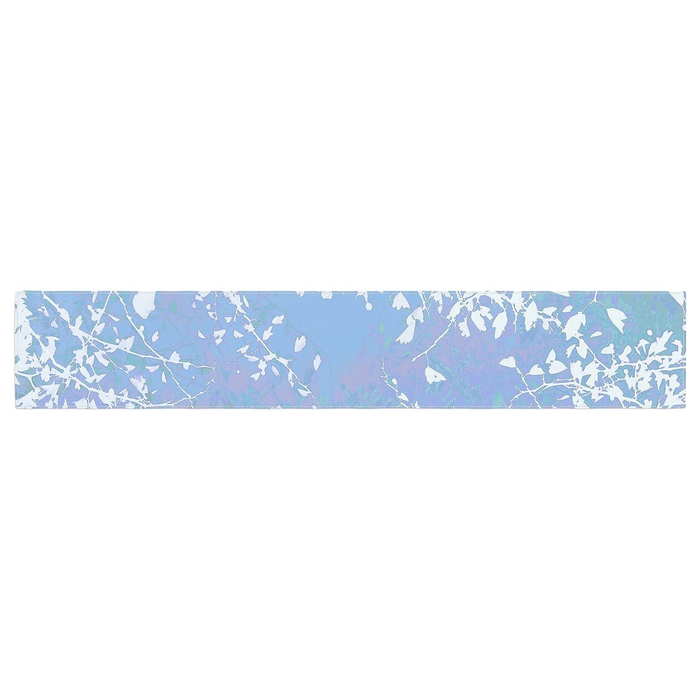 Kess InHouse Iris Lehnhardt Twigs Silhouette Pastel Blue Cold Table Runner