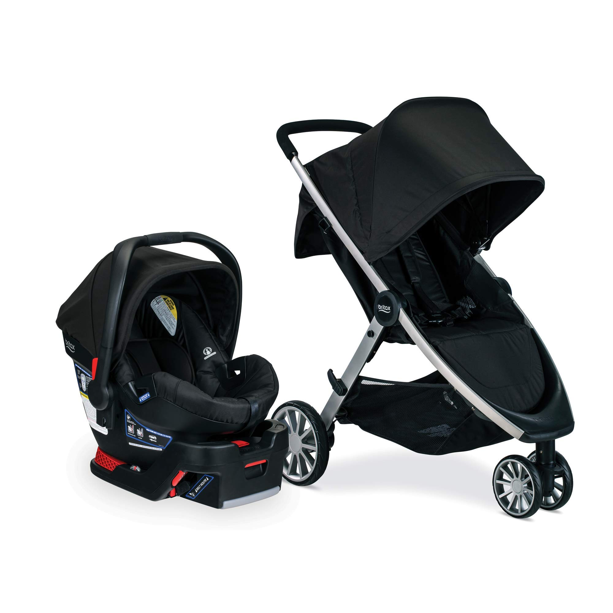 Britax B-Lively Travel System with B-Safe 35 Infant Car Seat, Raven - Birth to 55 Pounds by BRITAX