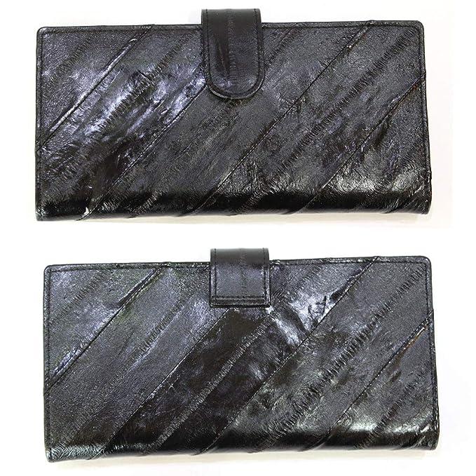 genuine eel skin wallet with 10 slots for women.