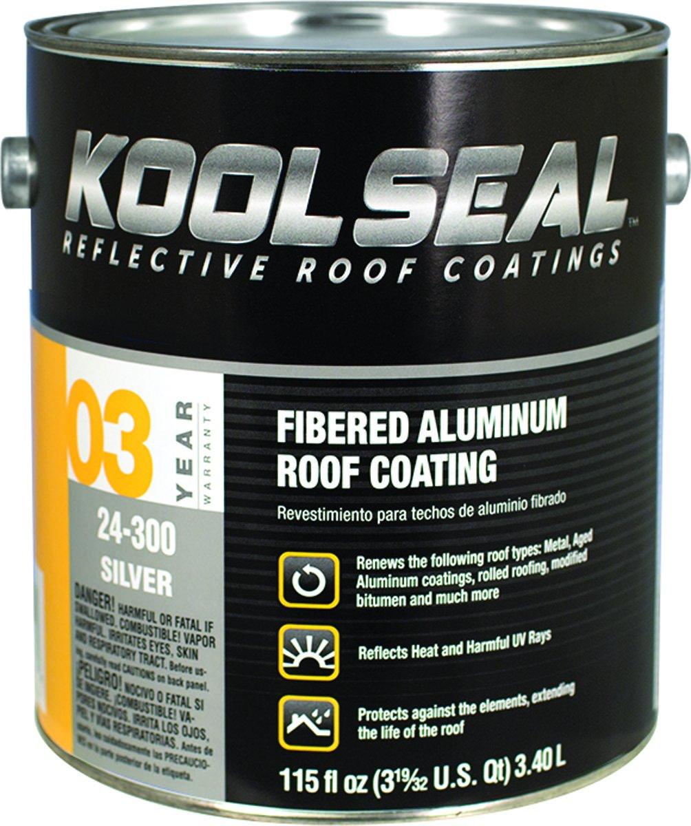 Kst Coatings Ks0024300-16 Asphalt Based Aluminum Roof Coating, 1 Gallon (Pack Of 4)