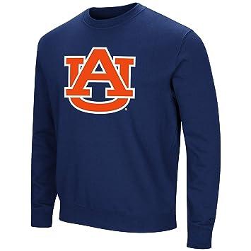 5f7ce067 Colosseum NCAA Men's -Playbook- Crewneck Fleece Sweatshirt Tackle Twill  Embroidered Lettering-Auburn Tigers