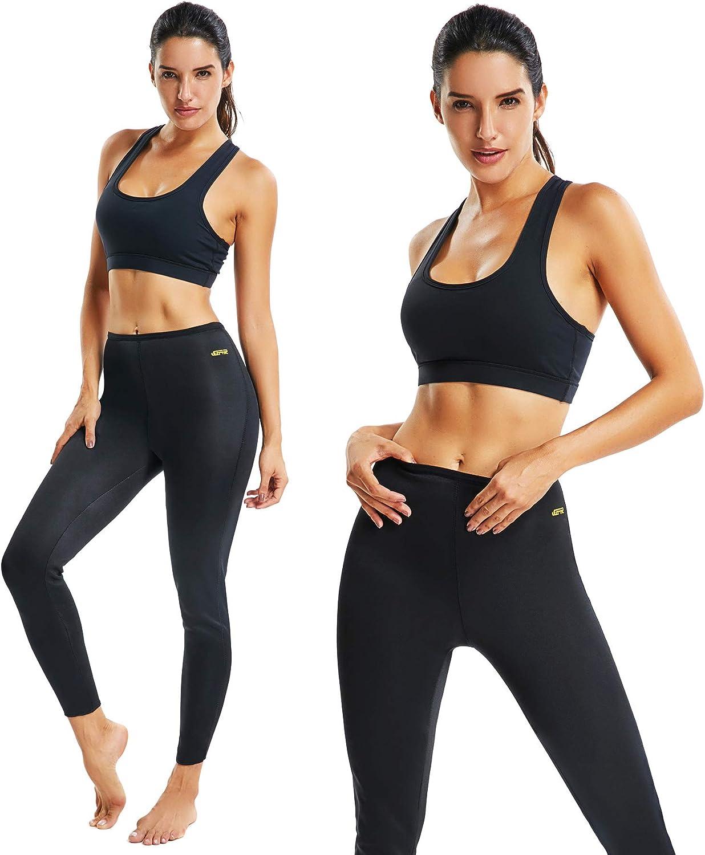 Sport M/ädchen Abnehmen Schlanke Fitnesshose FITTOO Damen Neopren Schwitzhose zum Training Figurformende Capri f/ür Yoga Joggen