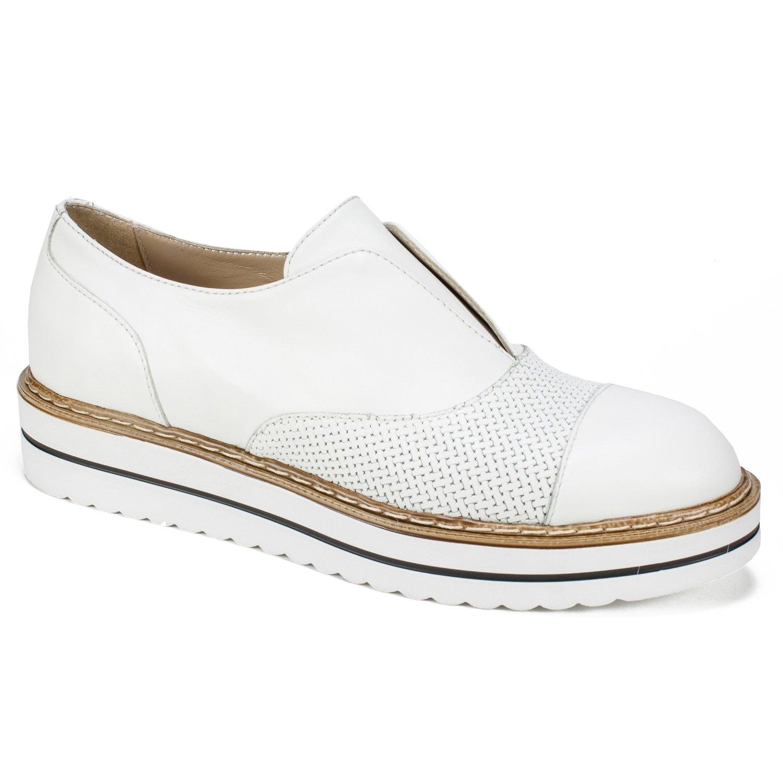 WHITE MOUNTAIN Summit Bliss Women's Flat, White/Leather, 38 M B078XJGJR6 Parent