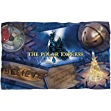 Polar Express - Scene Shapes Fleece Blanket 57 x 35in