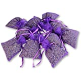 ASVP Shop Organza Bags Filled With Dried Lavender Flowers 10 Bags - With A Large 100g Amount Of Flowers