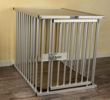 """Exklusivo """"Callieway® Transportín de aluminio anodizado, tamaño XL, con estructura de aluminio"""