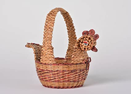 Amazon Beautiful Handmade Woven Basket Paper Basket Newspaper