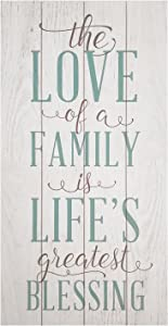 Stratton Home Decor The Love of A Family is A Life's Greatest Blessing Wall Decor Art, 10.00 W x 1.50 D x 20.00 H, White