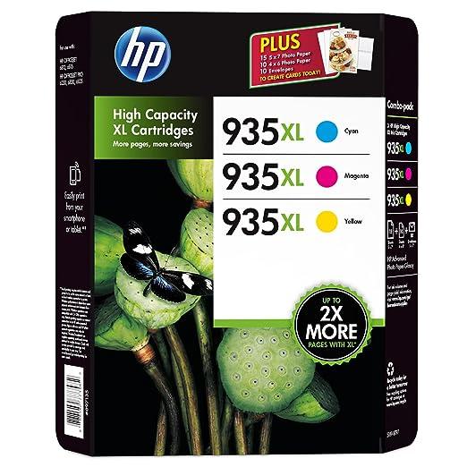 2 opinioni per HP 935XL Lot de 3 cartouches de couleur pour imprimante Cyan Magenta Jaune