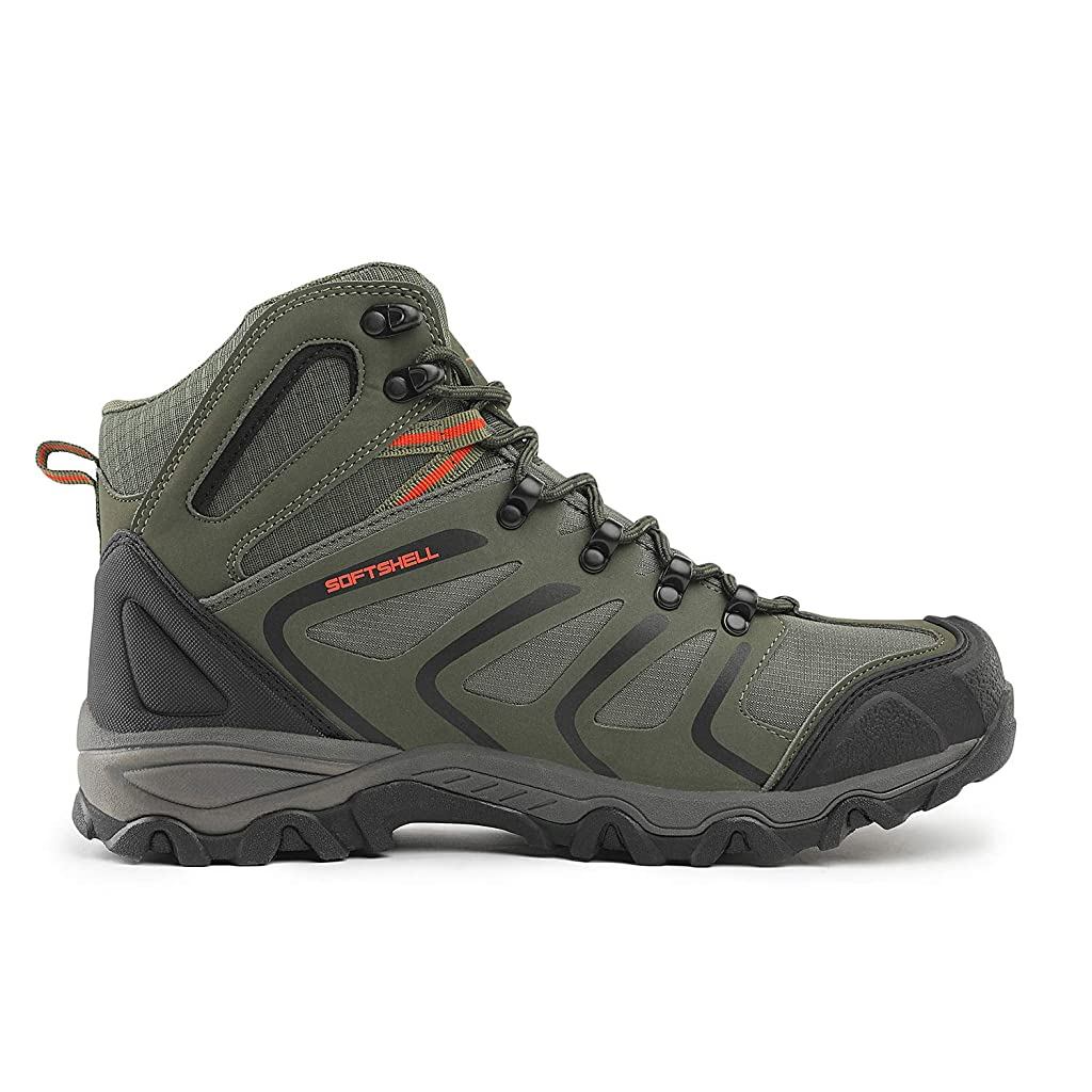 NORTIV 8 Mens Waterproof Hiking Boots Mid Outdoor Backpacking Trekking Trails Lightweight Shoes