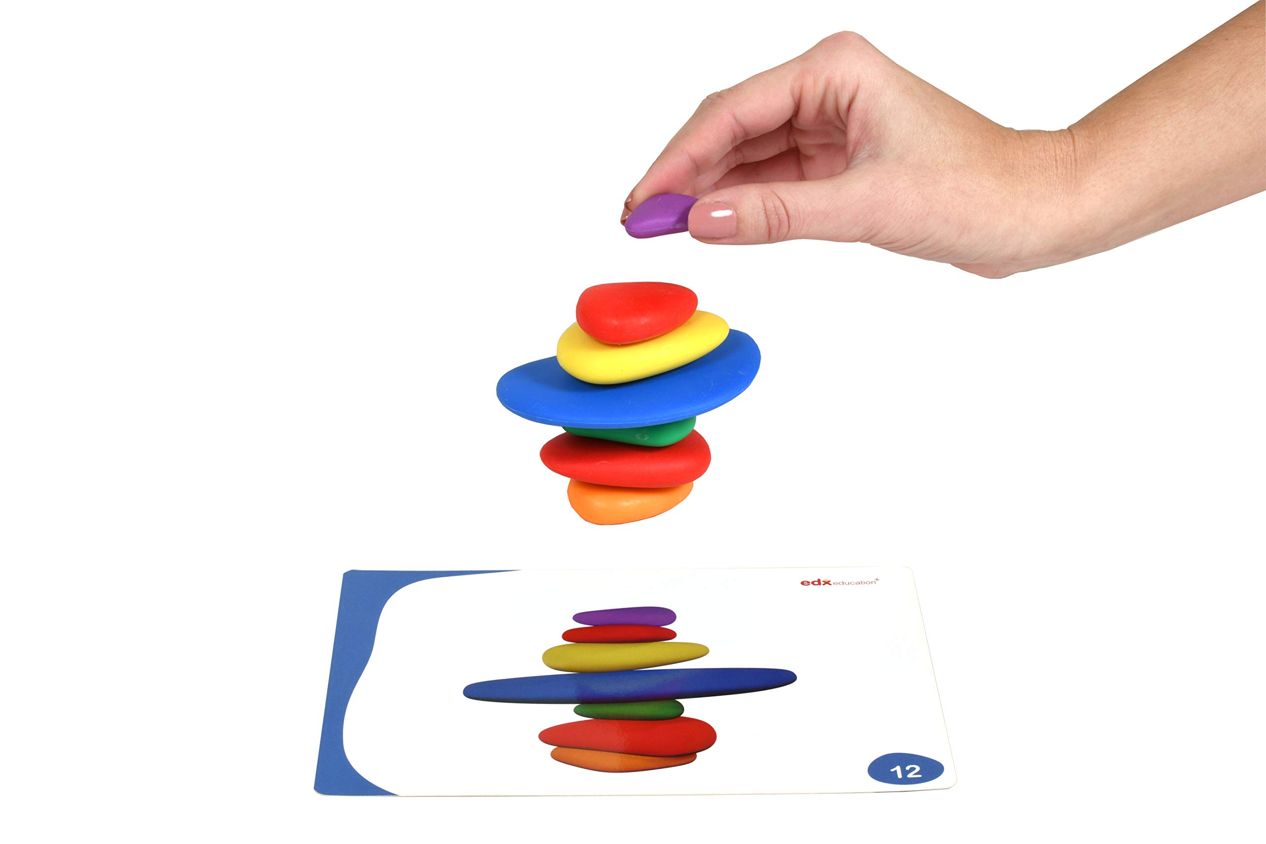 edx Education Rainbow Pebbles - Sorting and Stacking Stones by edxeducation (Image #10)