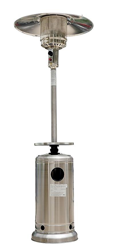 Outsunny Radiador Estufa Calentador de Patio 5-12KW Acero INOX