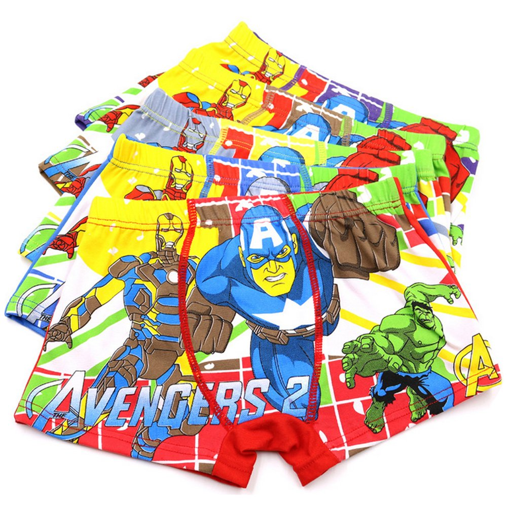 YUMILY 3-8 Years Boys Spiderman Boxer Briefs Cotton Character Underwear,5 Pack