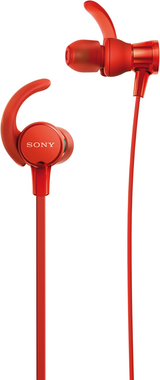 Sony MDR-XB510ASR - Auriculares intraurales Extra Bass (diseño Lavable Resistente al Agua IPX5/7, micrófono con Mando Integrado Compatible con Smartphones) Color Rojo