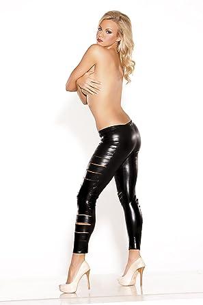 40975a502f70fe Allure, Women's Kitten Side Slashed Leggings, One Size, Black:  Amazon.co.uk: Health & Personal Care