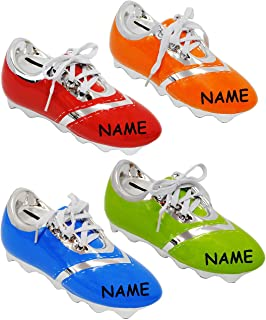 e8e5d2fb6b479 Unbekannt 1 Stück   Spardose - Fußballschuh   Sportschuh - Schuh - incl.  Name -