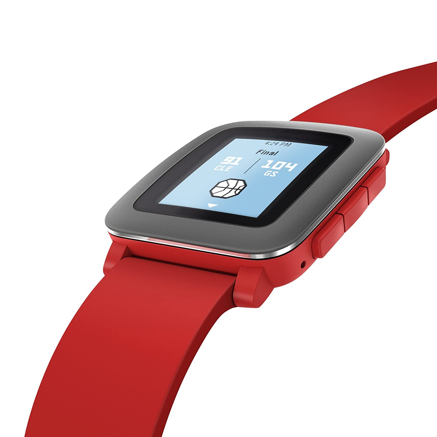 Pebble Time Smartwatch - Red
