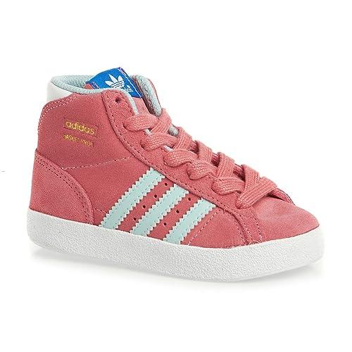 more photos c783e 0e089 adidas Sneaker Alta Basket Profi I RosaAzzurro EU 21