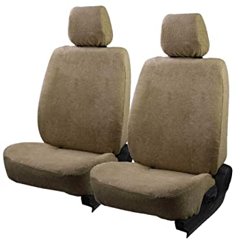 Semaphore Front Seats T2 Fixed Front Headrest Towel Seat Covers Set of 2  Beige-Hyundai i10 Type 1 (2007-2012): Amazon.in: Car & Motorbike
