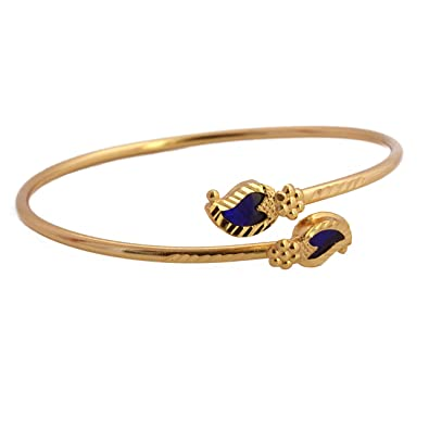 2e1e489e46f Buy Radha's Creations Blue Palakka One Gram Gold Plated Bracelet For Women  and Girls Size 2-6 Online at Low Prices in India | Amazon Jewellery Store  ...