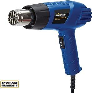 HomeRight Dual Temperature Heat Gun C800950 Paint Scraper, Paint Remover, Heat Paint Remover, Plastic Welding, Bending Plastic, Sticker Removal