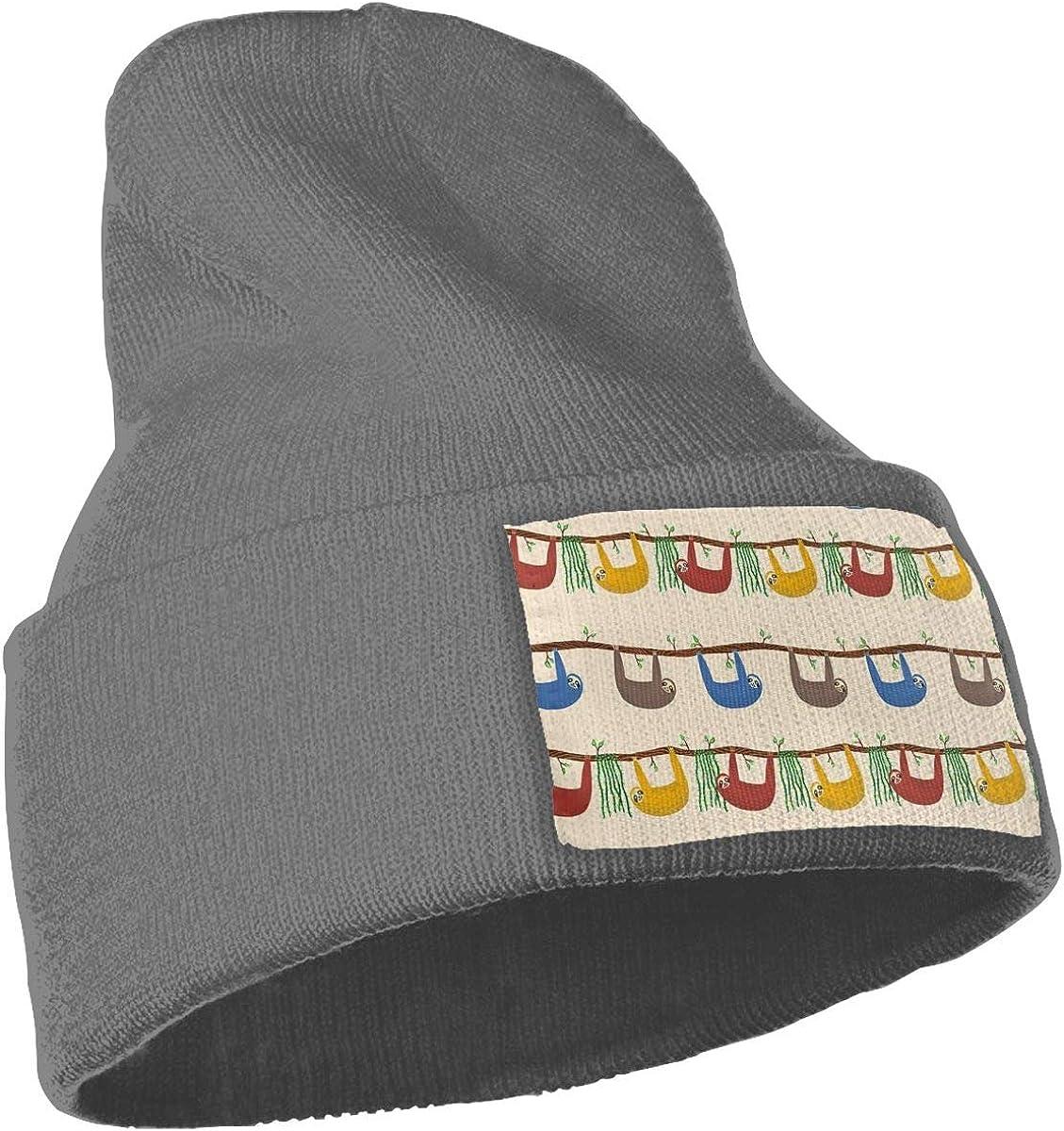 Sloths Soft Ski Cap Ydbve81-G Mens Womens 100/% Acrylic Knitted Hat Cap