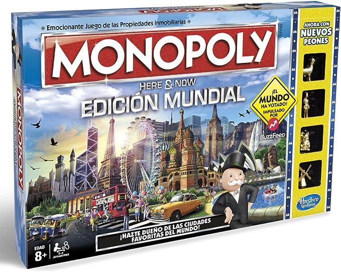 Monopoly, edición Mundial, Multicolor (Hasbro B2348546): Amazon.es: Juguetes y juegos